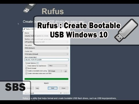 Rufus - How to Create Windows 10 Bootable USB Flash Drive