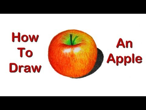 How to draw an apple | Realism with Oil Pastel