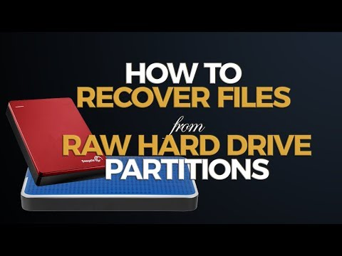 How to Recover Files from RAW Hard Drive Partition