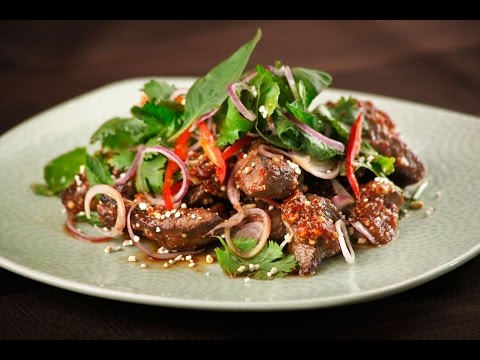 Thai Roasted Beef Salad Recipe.How to Make Easy and Quick Beef Salad