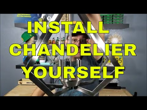 HOW TO INSTALL A CHANDELIER AND CUT CHANDELIER CHAIN