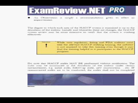 ExamREVIEW HACCP Auditor Study Guide