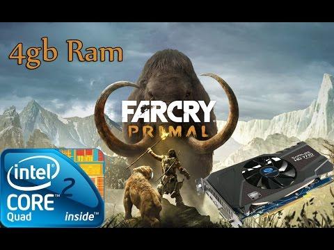 Far cry Primal Gameplay Q6600 4gb ram HD 7770