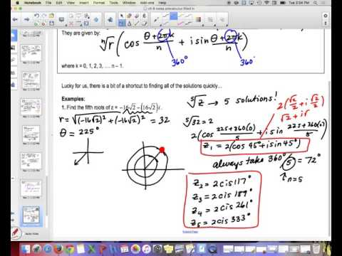 Lesson 48 Part 2: Finding Roots of Complex Numbers and nth Roots of Unity