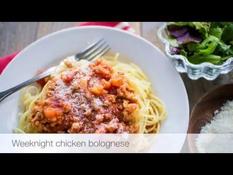 Weeknight chicken bolognese