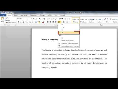 How to Change Paragraph Spacing in Word