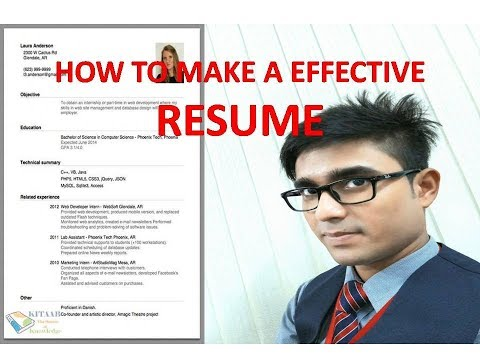 How to make a effective resume for my airlines interview - resume or CV for fresher