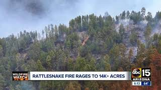 Rattlesnake Fire continues to burn