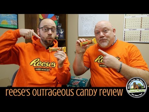 NEW Reese's Outrageous Candy Review - Taste Test - Best Candy Bar Ever?
