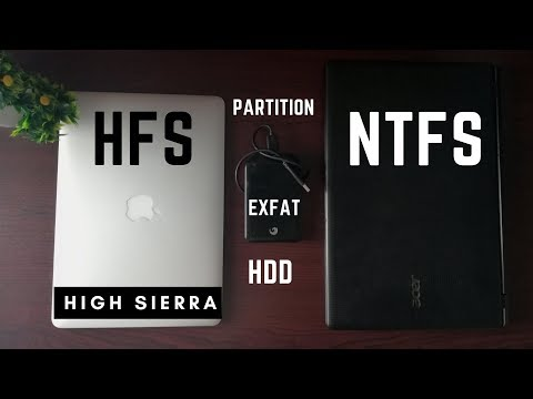 Format external HDD for mac and windows ( EXFAT)   Partition HDD for Time Machine  High Sierra