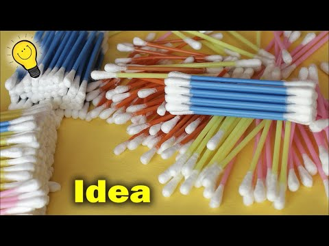Best Idea Out of Cotton Buds || How to make Flower Vase at Home || DIY Room Decor Idea 2018