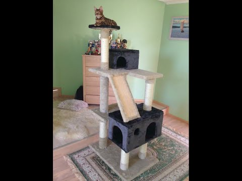 My new awesome homemade cat tree