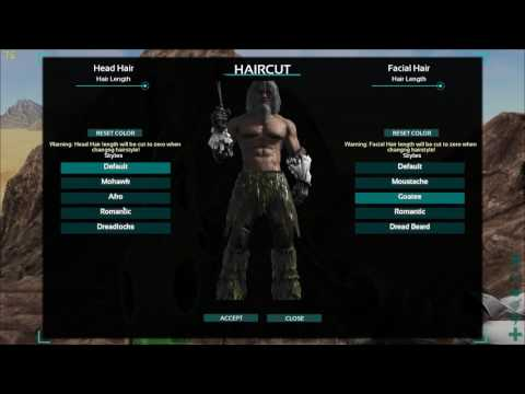 ARK Survival Evolved - ALL Hairstyles and Beards