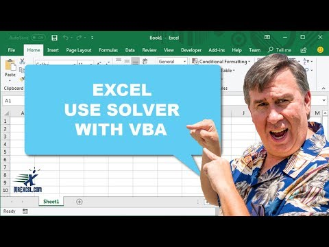 Learn Excel - Use Solver with VBA - Podcast 1830