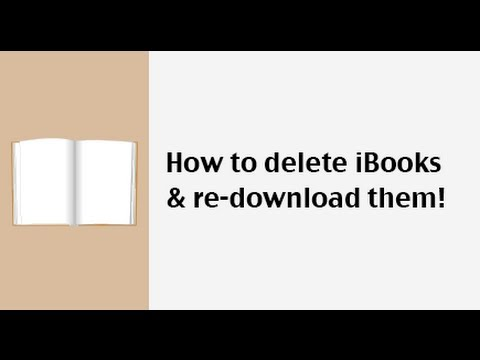How to delete books in iBooks