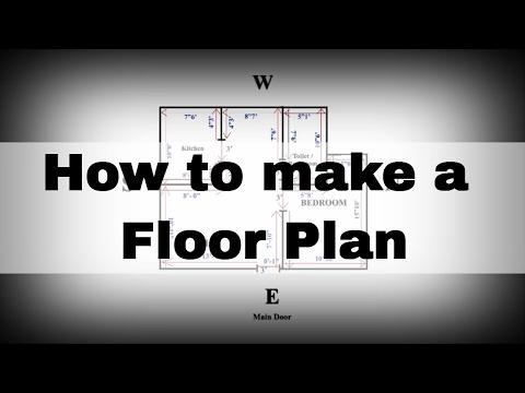 How to make Floor Plan | House plan |  Hindi | Saral Vaastu | Call +91 9321333022