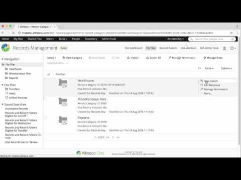 Alfresco Records Management 2.5 - Create a retention schedule