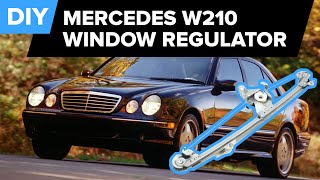 Mercedes W210 Rear Window Regulator Replacement DIY - (E300, E320, E420, E430, and E55 AMG)