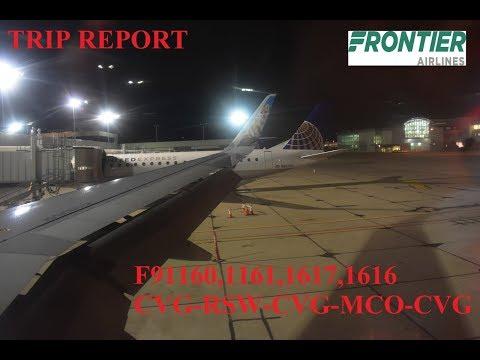 Frontier Airlines Trip Report (CVG-RSW-CVG-MCO-CVG)
