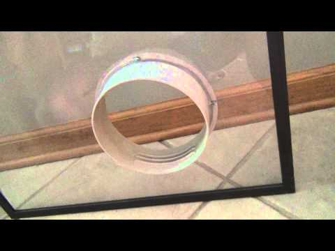How to install a portable A/C unit into a casement window