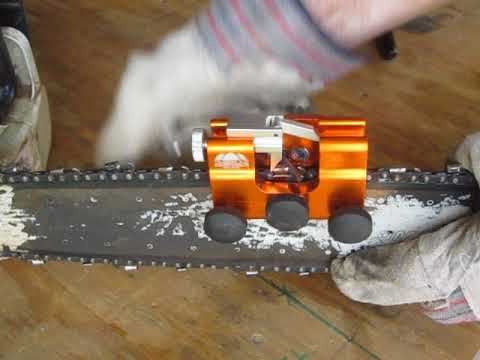 Sharpening a chainsaw blade in 60 seconds