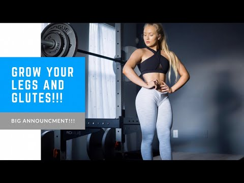FULL WORKOUT FOR BIGGER LEGS & GLUTES! + Big Announcment/Giveaway!