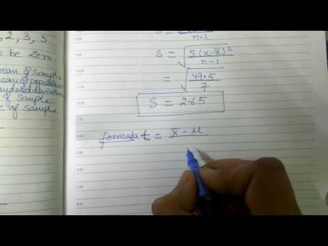 STUDENT - T DISTRIBUTION  EXAMPLES IN HINDI PART 2 [SAMPLING DISTRIBUTION] #FOR IP UNIVERSITY