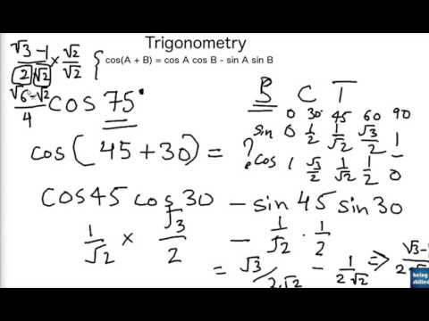 How to calculate values of sin75 / cos 75 using Trigonometry identities?