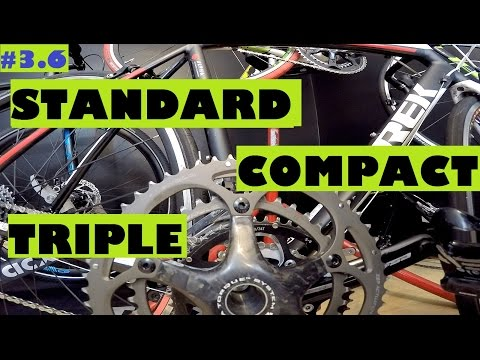 Cycling for beginners - standard, compact or triple crankset? Choosing a right chainset.