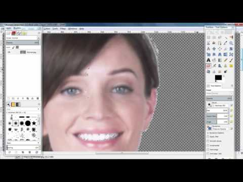 GIMP tutorial - How to remove a background image