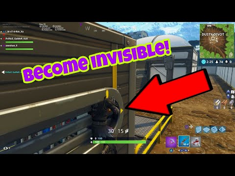 Fortnite Battle Royale Glitch (Season 4) Become invisible PS4/Xbox one 2018