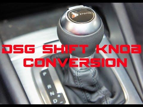 VW & Audi side facing to forward facing button shift knob conversion