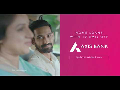 Axis Bank Home Loans with 12 EMIs off