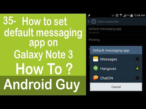 How to set default messaging app on Galaxy Note 3 ?