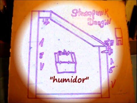 Building a Steampunk design Humidor #1