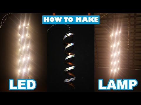 How to make Led Lamp using of Led strip 12v at Home Decoration
