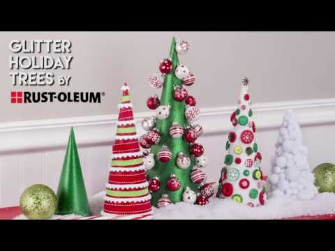 Create Your own Holiday Tree Decor with Rust-Oleum's Glitter Spray Paint