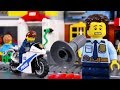 LEGO Police Car Chase STOP MOTION LEGO Police School Catch The Crooks LEGO City Billy Bricks