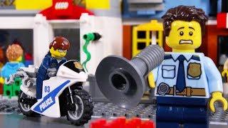 LEGO Police Car Chase STOP MOTION LEGO Police School: Catch The Crooks    LEGO City   Billy Bricks