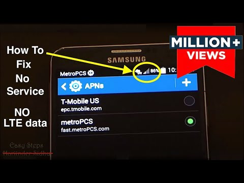 How to Fix No Service | No 4G LTE data | metroPCS APN Settings