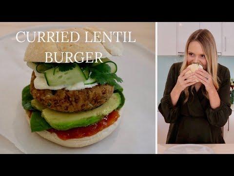 Curried Lentil Burgers