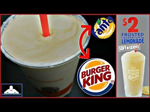 Burger King® | Frosted Frozen Fanta® Lemonade Review! 🍧🍦🍋