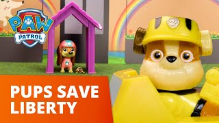 PAW Patrol Rescue LIBERTY the NEW PUP! 🐶 PAW Patrol Toy Pretend Play Rescue