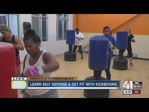 Learn self defense and get fit with kickboxing