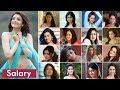 South Indian Actress Salary  Highest Amp Lowest Paid Actresses  Tamil Telugu Malayalam Kannada