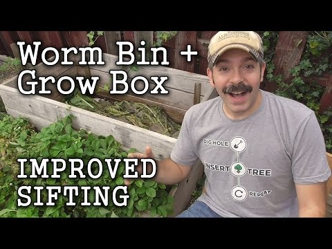 Compost Worm Bin / Grow Box part4  -Sifting Worm Castings (How To)