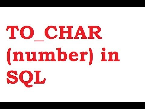 TO_CHAR(number) Function in SQL Query