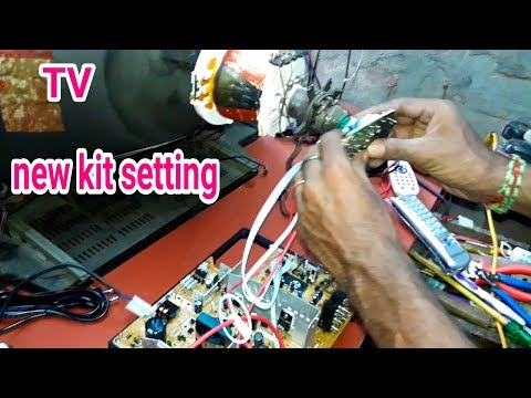 Crt Tv New Kit Replacement / tv new kit setting/ tv board change