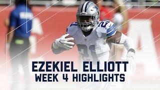 Every Ezekiel Elliott Run & Catch | Cowboys vs. 49ers | NFL Week 4 Player Highlights
