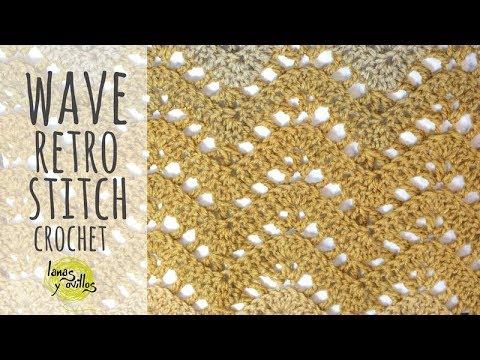 Tutorial Chevron Retro Stitch Wave Crochet